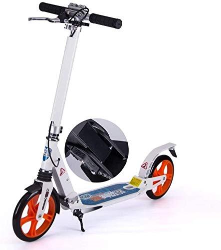 Scooter H- Patinete Kick Scooters De Patadas para Adultos para Regalos De Mujer, Scooters De Cercanías Plegables con Freno De Mano Y Ruedas Grandes, Soporte hasta 100 Kg, No Eléctrico