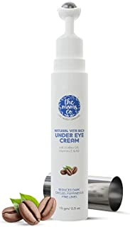 The Moms Co. Natural Vita Rich Under Eye Cream with Cooling Massage Roller to Reduce Dark Circles, Puffiness and Fine Line...