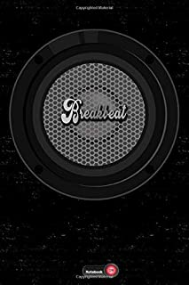 Breakbeat Notebook: Boom Box Speaker Breakbeat Music Journal 6 x 9 inch 120 lined pages gift