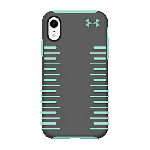 Under Armour Phone Case | for Apple iPhone XR | Under Armour UA Protect Grip 2.0 Case with Rugged Design and Drop Protection - Graphite/Crystal