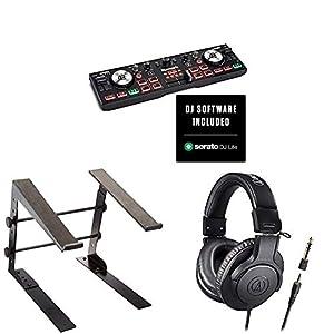 Numark コンパクト DJ初心者ヘッドホンセット DJコントローラー DJ2GO2 Touch +ヘッドホン + スタンド