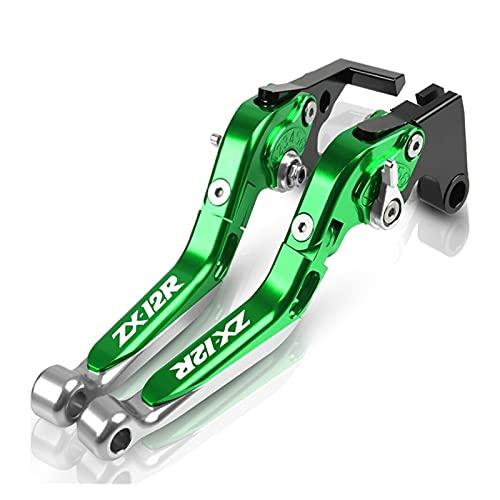 Kit De Embrague Palancas para KAW┐ASAKI Ninja ZX-12R ZX12R Motocicleta CNC Palanca De Embrague De Freno Plegable Telescópica Ajustable Cubre Puños del Manillar Pit Bike (Color : D)