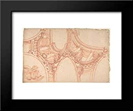 Anonymous Artist, Italian, Piedmontese, 18th Century - 18x15 Framed Museum Art Print- Project for a Painting Ceiling