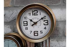 Casadomu Steampunk Clock Industrial Pipe Wall Hanging Large Antique Style Decor Timepiece #2