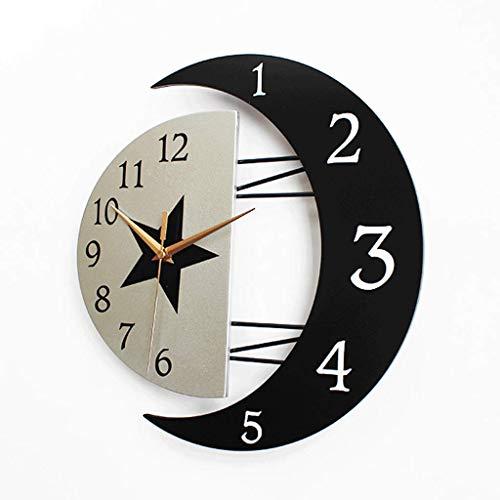 Horloge murale de dessin animé de la chambre des enfants Mode Salon de style européen lorsque l'horloge créative Simple Art Moderne Mute Wall Watch (taille : Small)
