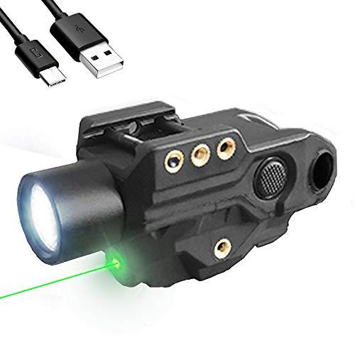 HAWK GAZER FLG-9T Low Profile Rechargeable Flashlight Green Laser Sight Combo