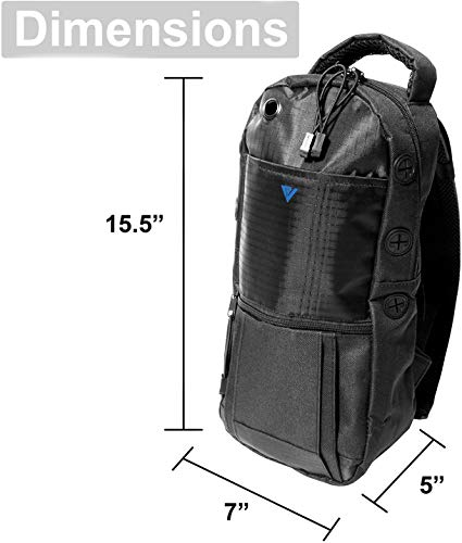 Oxygen Cylinder Backpack, Water Resistant and Portable Tank Bag with Adjustable Straps, Double Mesh Padded Bag M2 M4 ML6 M6 M7 M9 Tanks (A, B and C Cylinder - Charcoal Black)