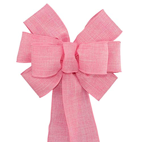 Pink Rustic Spring Wreath Bow with Color and Size Options