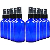 Youngever 16 Pack Empty Blue Glass Spray Bottles, 2 Ounce Refillable Container for Essential Oils, Cleaning Products, or Aromatherapy