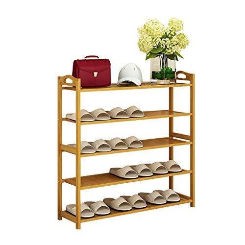 Houten schoenenrek, meerdere lagen, eenvoudig, voor schoenen, huishoudrek, stofdicht, robuuste houten schoenenkast gemonteerd, schoenenrek 70cm*25cm*87cm