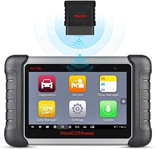 Autel MaxiCOM MK808BTHerramienta de Escaneo de Diagnóstico , Escáner de Todo el Sistema, Purga de ABS, Reinicio de Aceite, EPB, Codificación del Inyector, BMS, SAS, DPF, Versión Avanzada. de MK808
