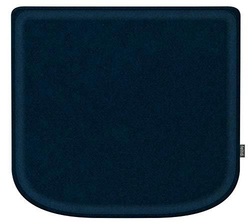 Feltd. Eco Filz Kissen geeignet für Marcel Breuer - Thonet Modell S32/S64-29 Farben - optional inkl. Antirutsch und gepolstert!(Schwarzblau)