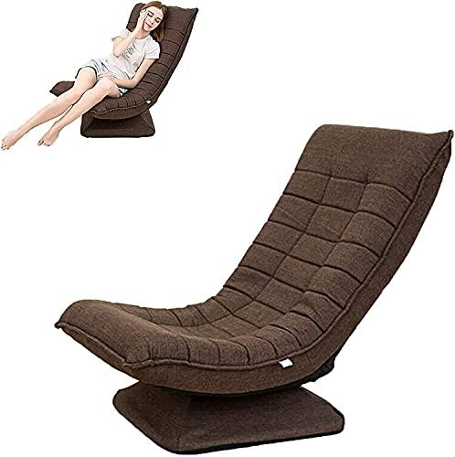 ZQQFR Silla de suelo plegable con respaldo giratorio 360 °, 5 velocidades, respaldo ajustable, para casa, leer, juegos, tiempo libre, sofá portátil, sofá reclinable para niños