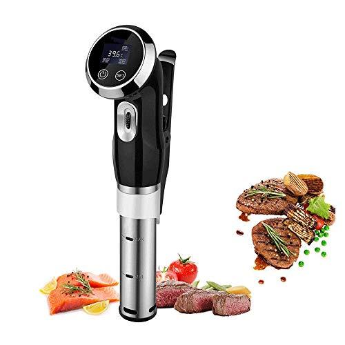 YFGQBCP Sous Vide Cocina, acero inoxidable Circulador de Inmersión, Aspiradora de cocina el cocinero, con la abrazadera ajustable y panel de control con pantalla táctil, Cook precisión, adecuado for e