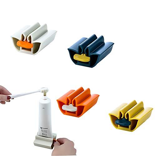 Exprimidor de pasta dental Exprimidor de Pasta de Dientes/ Ahorra pasta de dientes cremas y más para el baño/ 4 piezas/ Cuatro colores