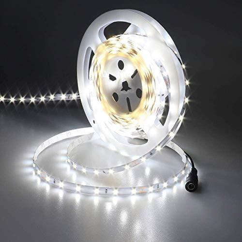 JOYLIT 24V Striscia LED Bianco freddo 6000K, UL CE Elencato 50W Alta Luminosità 3700LM, 5M SMD2835 300LEDs IP20 Non impermeabile Luce Nastro Luminoso Flessibile