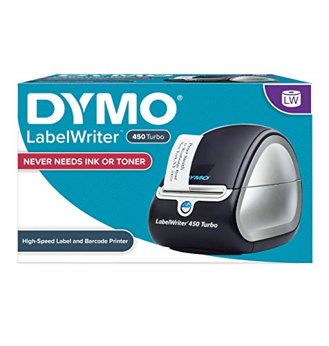 DYMO Label Printer | LabelWriter 450 Direct Thermal Label Printer, Great for Labeling, Filing, Mailing, Barcodes and More, Home &...