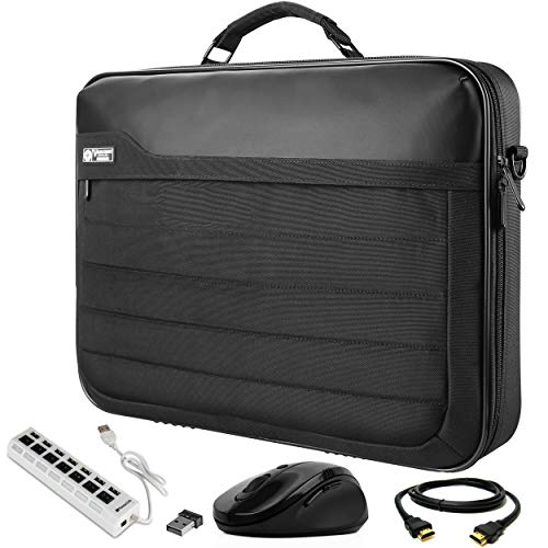 VanGoddy Laptop Briefcase Bag 17.3 inch with HDMI Cable, Mouse, and USB Hub Fit for Razer Blade Pro 17', EVGA SC17 980, 1070, 1080 17.3'