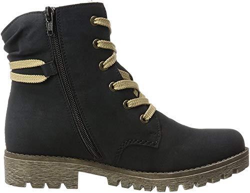 Rieker Damen 78550 Stiefel, Blau (Atlantic/Mogano 14), 40 EU