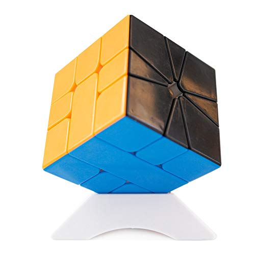OJIN YuXin Little Magic SQ1 M Cube Square-1 M Black Bottom SQ 1 The Enhanced Version M Cube Smooth Twsit Puzzle Fondo Negro con un trípode de Cubo (Sin Etiqueta)