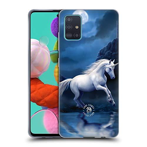Head Case Designs Offizielle Anne Stokes Mondschein Einhorn Fabelwesen Soft Gel Handyhülle Hülle Huelle kompatibel mit Samsung Galaxy A51 (2019)