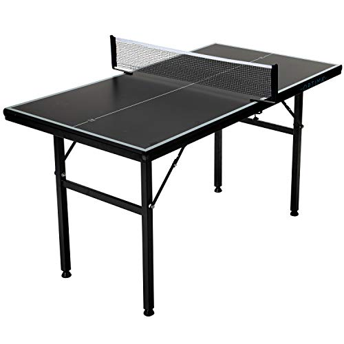 Franklin Sports Mid-Sized Table Tennis Table - Optimum Mid-Size Table - Perfect for Kids or Smaller Rooms - Easy Assembly - Pro Quality - 53' x 29.5', Blue/White