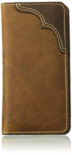 Wrangler Leather Rodeo Wallet Billetera, Parche con pestaña de Contraste coñac/marrón, Talla única para Hombre