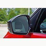 Autodomy Confezione Adesivi Compatibile con Audi Anelli Cuore 6 Pezzi in Vinile per specchietti Auto