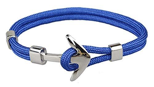 LLXXYY gevlochten armband, vintage gevlochten touw handgemaakte Bangle/hoop, anker, ketting zilver legering blauwe armbanden/voor mannen Woen kinderen charme sieraden Accessiors geschenk
