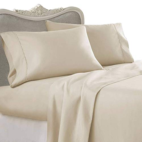 OYO COLLECTION Queen Size Pillow CASE Hotel Luxury 1500-TC Heavy Egyptian Cotton Set of 2-Piece Pillow Case Queen Size (20x30) (Solid, Beige)