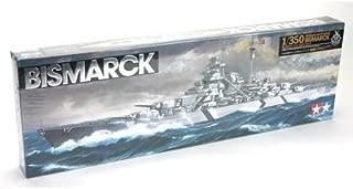 Tamiya America, Inc 1/350 German Battleship Bismarck, TAM78013