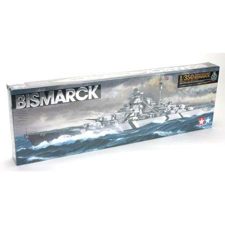 Tamiya 300078013 - Maqueta de Acorazado Bismarck alemán (Escala 1:350, Segunda Guerra Mundial)
