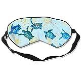 COLOMAKE Perfect Blue Baby Sea Turtle Sleep Eye Mask - Light Blocking Sleep Mask Soft Comfortable Blindfold 100% Block Out Light Best Blinder for Travel/Sleeping/Shift Work/Meditation