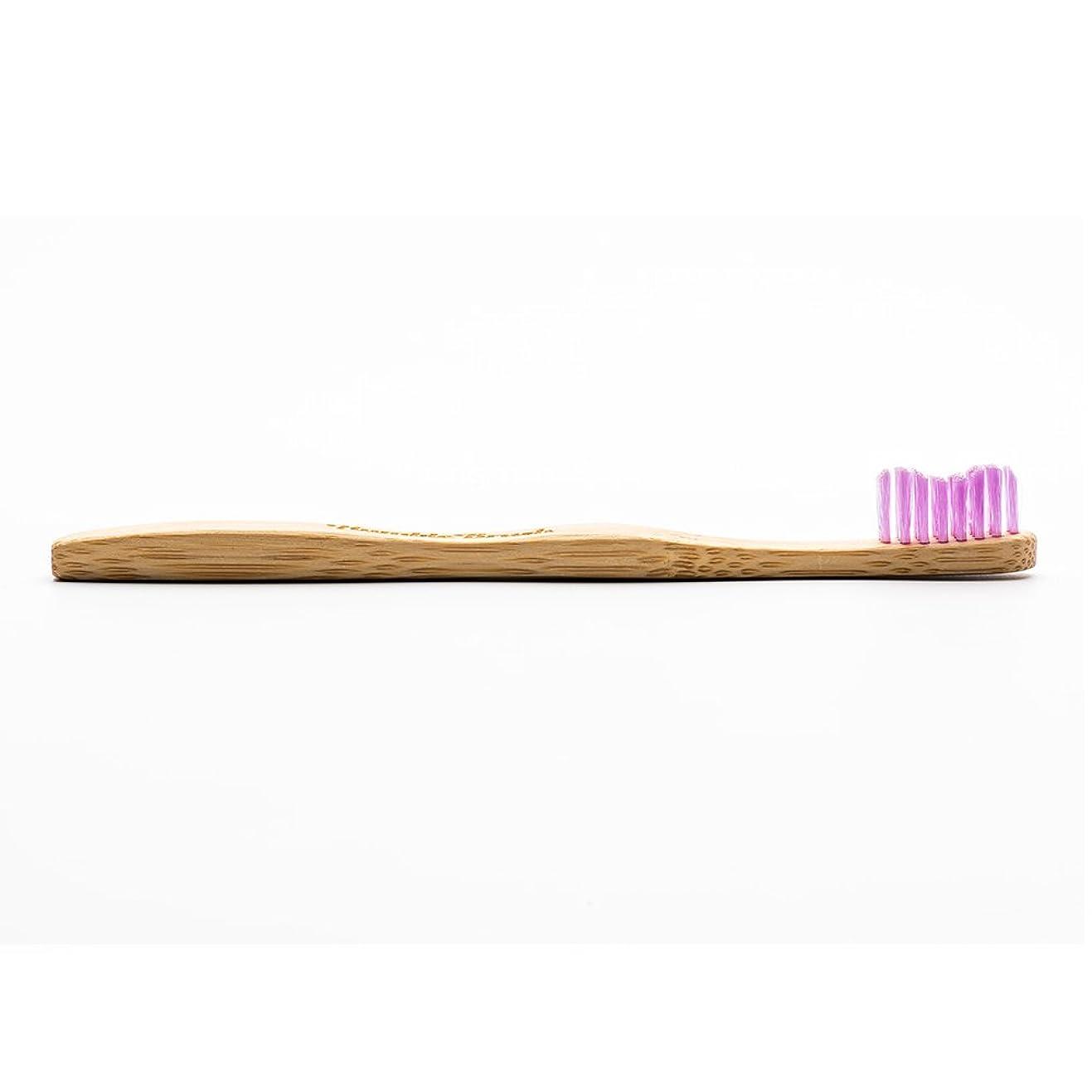 ファブリック孤独な幻滅するHUMBLE BRUSH(ハンブルブラッシュ) 歯ブラシ キッズ パープル
