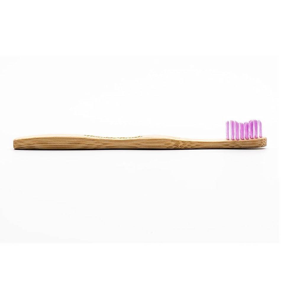 グッゲンハイム美術館親指いとこHUMBLE BRUSH(ハンブルブラッシュ) 歯ブラシ キッズ パープル