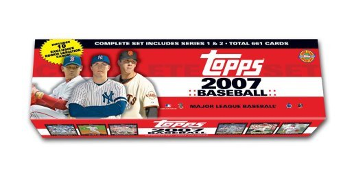 2007 Topps Baseball Cards Special HOBBY ONLY - HTA Holiday Factory Set - 661 Cards - (10 Bonus Rookie Cards)
