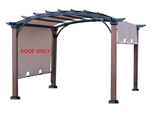 ALISUN Replacement Sling Canopy (with Ties) for The Lowe's Allen + roth 10 ft x 10 ft Tan/Black Material Freestanding Pergola #L-PG152PST-B (Size: 200' (L) x 103' (W))