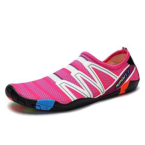 LHQ-HQ Calzado De Agua para Mujer para Hombre Descalzo Calcetines De Secado Rápido para Natación En La Playa Surf Yoga Ejercicio Nuevas Suelas De Color Translúcido,13~14