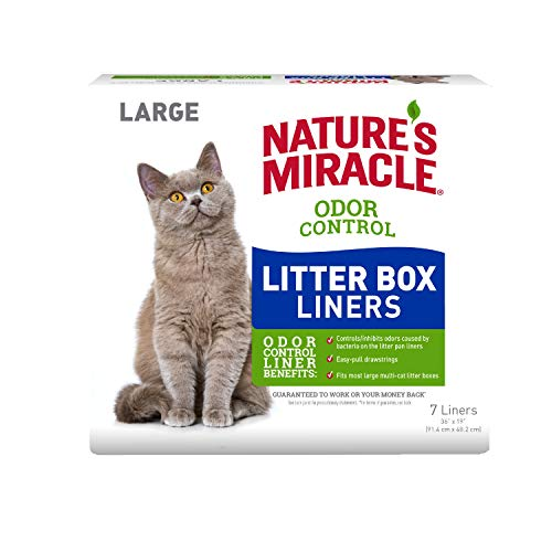 NATURE'S MIRACLE ODOR CONTROL DRAWSTRING LITTER BOX LINERS