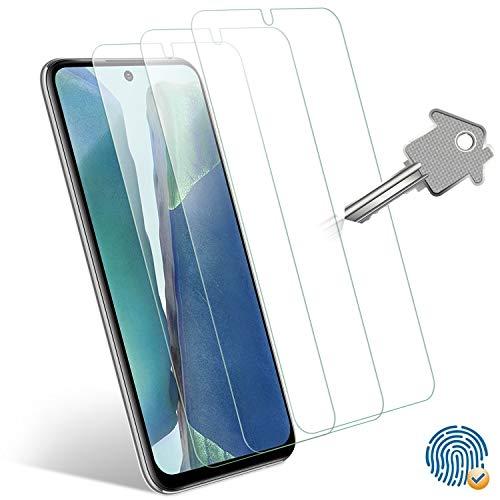 Wonanse Panzerglas Schutzfolie für Samsung Galaxy Note20/Note20 5G Panzerglas 6,7'', [3 Stück] [Fingerabdrucksensor unterstützen] [9H-Härte] 99.99% HD Panzerglasfolie für Samsung Galaxy Note 20 5G