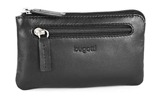 Bugatti Primo Leder Schlüsseletui Groß – Schlüsseltasche für Damen und Herren – Schlüsselmäppchen mit Geldfach, Schwarz