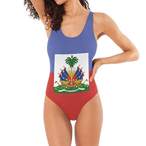 Women's One-Piece Swimsuits Haitian Flag Backless Bikini Sets Sexy Ladies Vintage Summer Beach Swimwear Bathing Suit