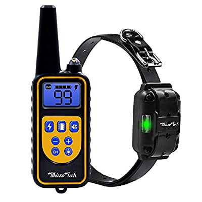 Whizzotech Dog Shock Training Collar Rechargeable Waterproof 875 Yards Remote Control E-Collar (for 1 Dog)