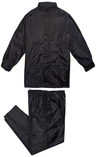 Supertouch 18366 polyester/pvc-regenjas, zwart