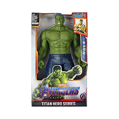 PVC Figure 12 '' / 30cm Venom Spider Man Thanos Hulk Iron Man Homme Thor Groot Action Figurines Jouet pour Kid Cadeaux (Color : Hulk NO Box)