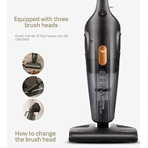 Best Buy! Automatic Vacuum Cleaner with Cable 220V Handheld Push Rod 2 in 1 Handheld 3 Large Brush H...