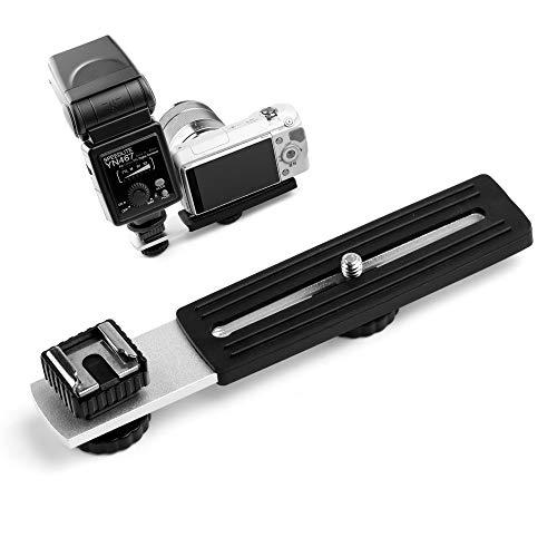 Fotover Soporte de flash horizontal para cámara con zapata
