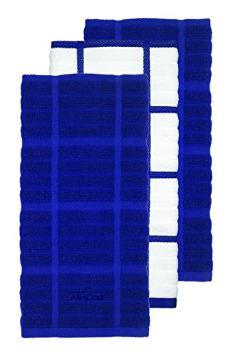 All-Clad Textiles 100 Percent Combed Cotton Soft and Durable 3 Piece Woven Solid Kitchen Towel