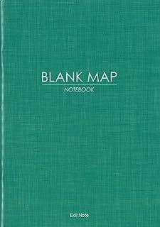 日本白地図ノート 全国版 BLANK MAP(都道府県境界線入り)A5
