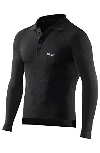 Sixs - Pol2 - Polo Manche Longue - Couleur : All Black - Taille : S